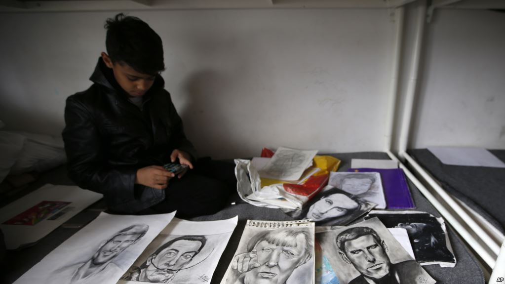 Afghan Boy Called 'Little Picasso' Shows Works in Serbia